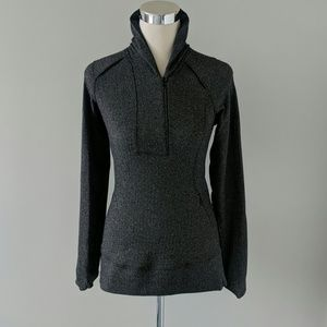 Lululemon | half zip jacket herringbone gray size6